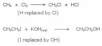 example of substitution reaction